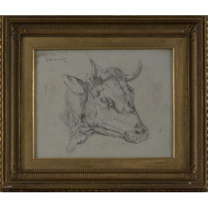NAVARRO LLORENS, José (1867-1923). Dibujo a lápiz sobre papel.