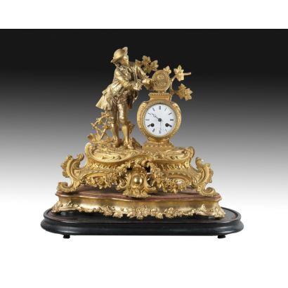 Reloj de sobremesa francés, Ph Mourey, ffs. XIX.