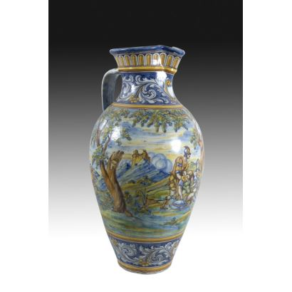 Jarra en cerámica de Talavera, pps. XX.