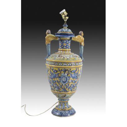 Lámpara de mesa, Talavera, pps. XX.