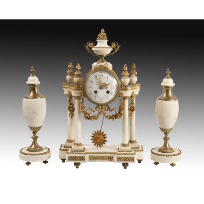 Reloj de pórtico, estilo Luis XVI, c. 1850.