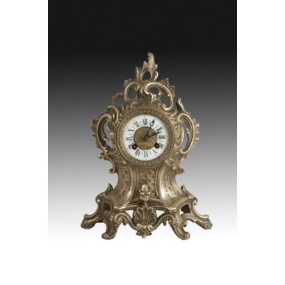 Reloj de sobremesa, estilo Luis XV, principios S. XX.