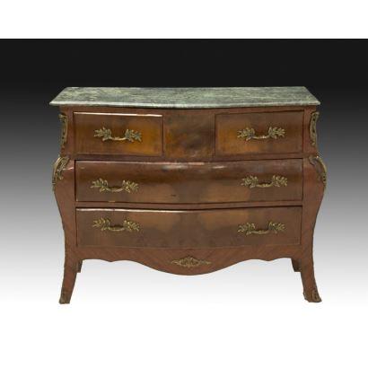 Muebles. Cómoda estilo Luis XV, siglo XIX.
