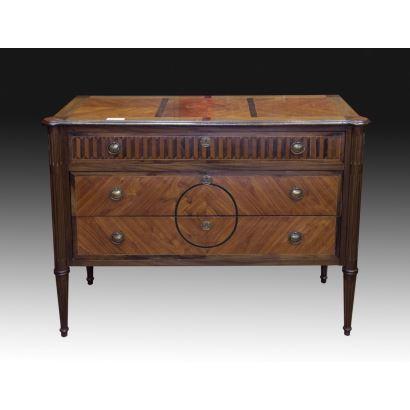 Muebles. Cómoda, estilo Luis XVI, S. XIX.