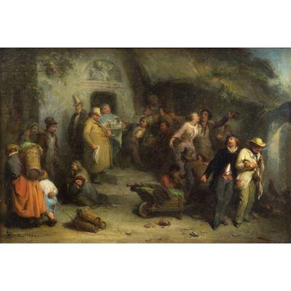 Pintura del siglo XIX. Michael Peter Ancher (Dinamarca, 1849 - 1927)