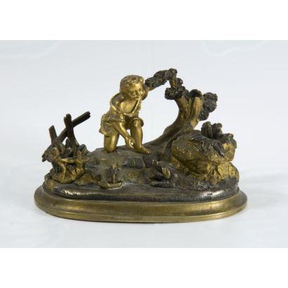 Tintero en bronce, pps. XX.