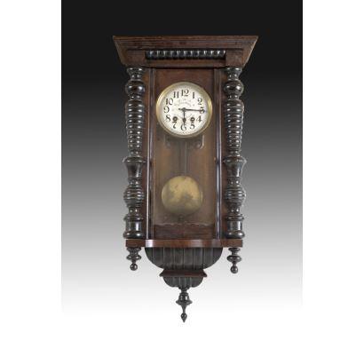 Relojes. Reloj de pared francés, fin S. XIX- ppios. S. XX.
