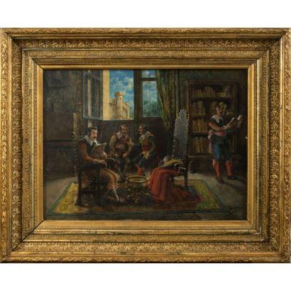 Pintura del siglo XIX. Vicente CAMPESINO Y MINGO (XIX-XX)