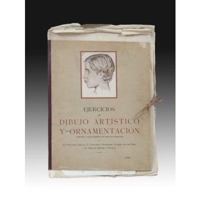 Ejercicios de dibujo artístico y ornamentación, 1934.