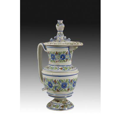 Jarra en cerámica valenciana, circa 1900.