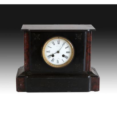 Reloj de sobremesa, estilo Napoleón III,  S. XX.