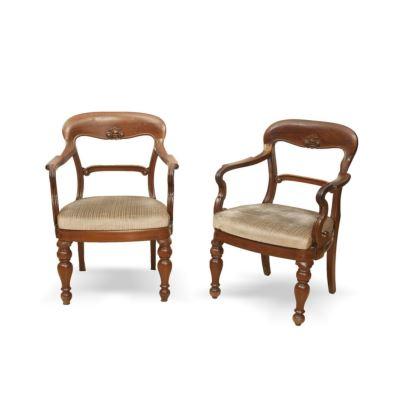 Pareja de sillas de brazos, C. 1900