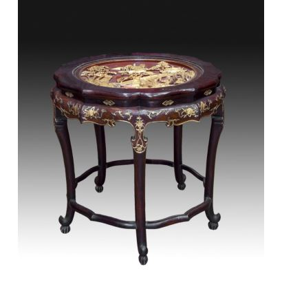 Muebles. Mesa de centro, China fin S. XIX- ppios. S. XX.