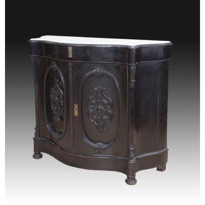 Muebles. Entredós  isabelino, siglo XIX.