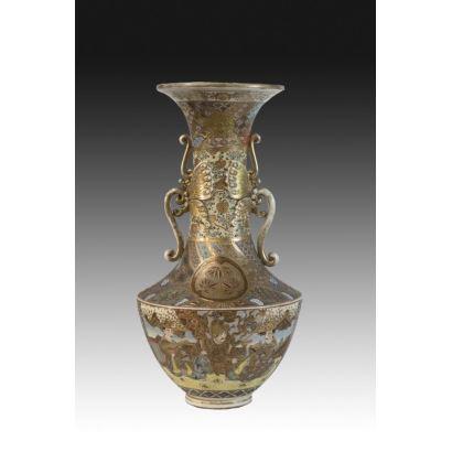 Porcelana. Jarrón Satsuma, ppios. S. XX.