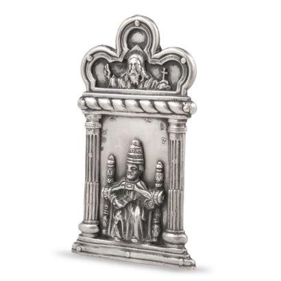 Portapaz realizado en plata española, Madrid siglo XVIII.