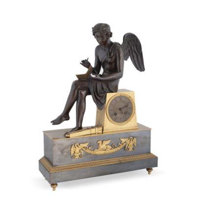 Reloj de sobremesa francés, estilo Imperio, S. XIX