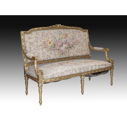 Sofá estilo Luis XVI, siglo XIX.