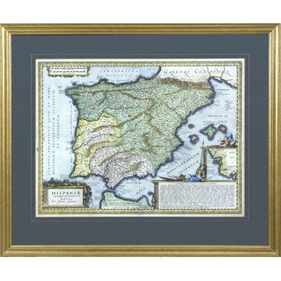 Grabado mapa Hispaniae veteris descriptio.