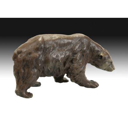Oso en bronce tipo Viena, PPIOS. S. XX.