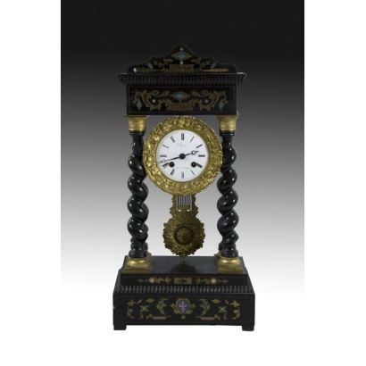 Reloj de sobremesa Napoleón III, segunda mitad S. XIX.