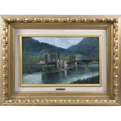 Pintura del siglo XIX. Atribuido a JUAN TOMÁS MARTÍNEZ ABADES (Gijón, 1862- Madrid, 1920)