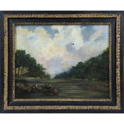 Pintura del siglo XIX. EUGENIO LUCAS VELÁZQUEZ (Madrid, 1817-1870)