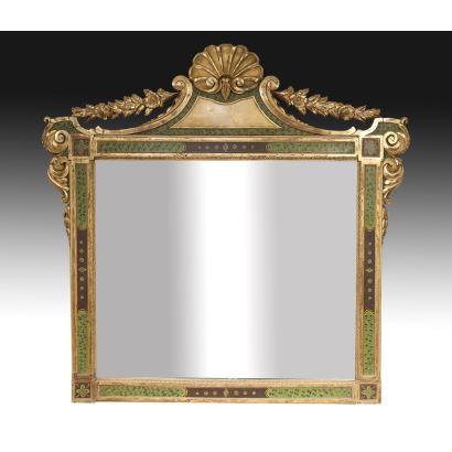 Espejo español, siglo XIX.