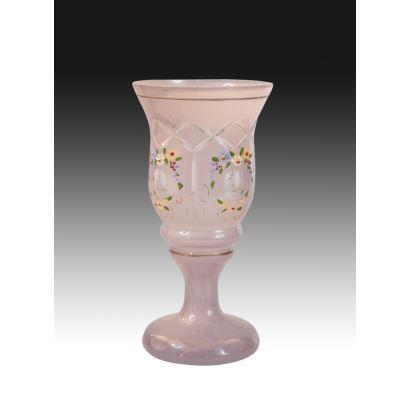 Copa en cristal coloreado, pps. XX.
