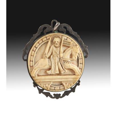 Medallón devocional, fin. S. XIX- ppios. S. XX.