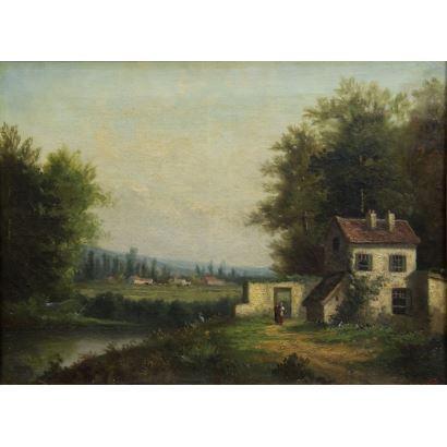 Escuela de Barbizón, siglo XIX,