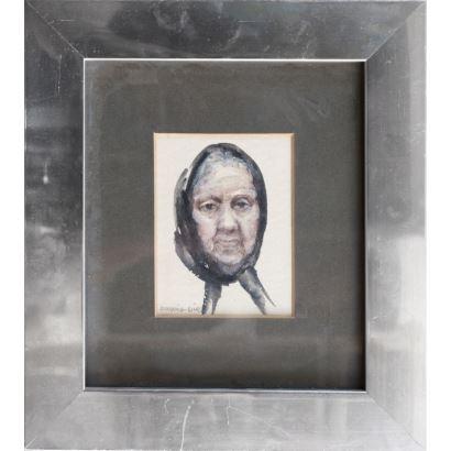 MIR CHUST, Antonia (Catarroja, 1928).  Gouache sobre papel.