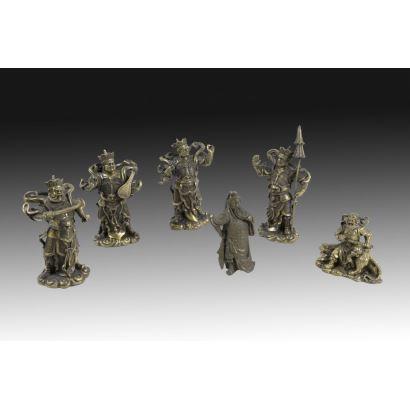 Conjunto de seis guerreros orientales, pps. XX.
