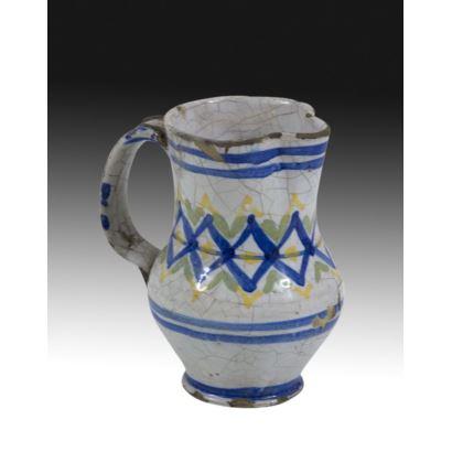 Cerámica. Jarra en cerámica de Manises, circa 1900.