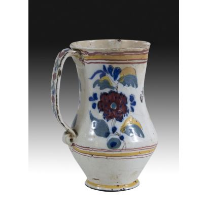 Jarra en cerámica valenciana, siglo XIX.