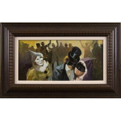 Pintura del siglo XX. LEAL CARRAGAL, Mario (1935). Óleo sobre tabla.