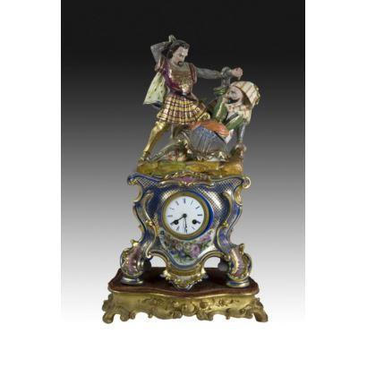 Reloj de sobremesa, estilo Jacob Petit, S. XIX.