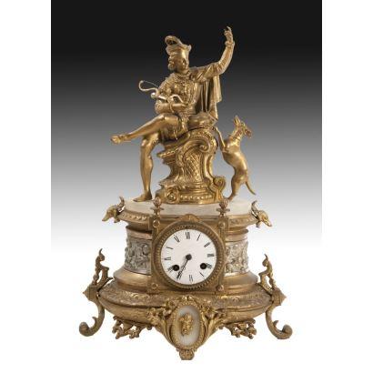 Reloj estilo francés, S. XIX.