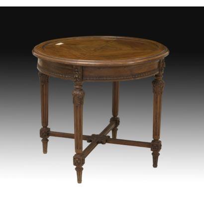 Muebles. Mesa de centro, Francia, S. XIX.