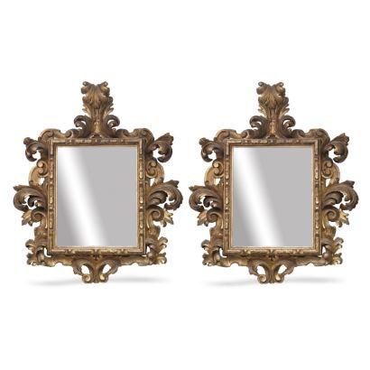 Muebles. Pareja de espejos estilo Carlos IV, siglo XVIII.