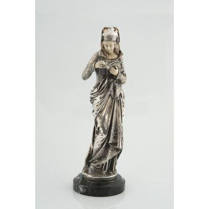 Esculturas. Criselefantina en plata y marfil, pps. XX.