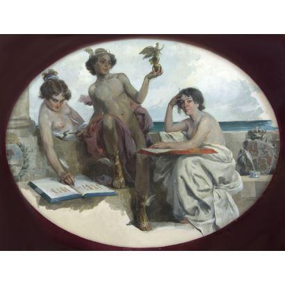 Pintura del siglo XIX. VILA Y PRADES, Julio (Valencia, 1873 - Barcelona, 1930)