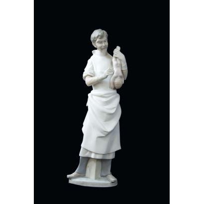 Porcelana. Figura en porcelana de Lladró, S. XX.