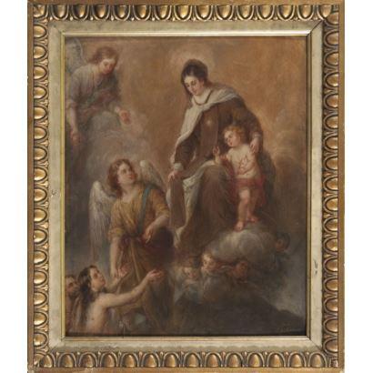 ROMERO LÓPEZ, José María  (1815-1880). Óleo sobre lienzo en cartón.