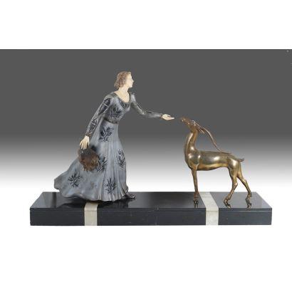 Dama con ciervo, PPIOS S. XX.