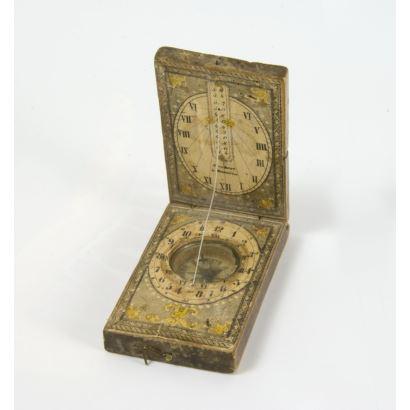 Reloj de sol y brújula, siglo XIX.