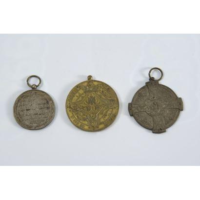 Conjunto de medallas religiosas, S. XX.