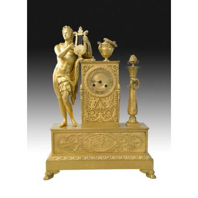 Reloj de sobremesa, estilo Imperio, Francia , S. XIX.