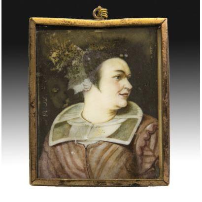 Miniatura en marfil, S. XIX.