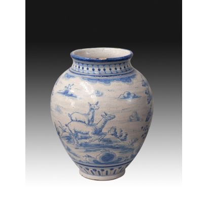 Jarrón en cerámica italiana, ffs. XIX.